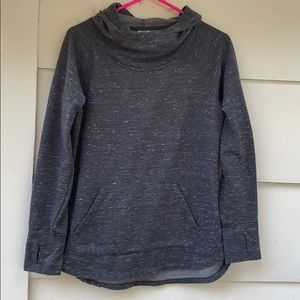 Gray hooded athletic works pullover